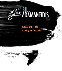 Bill Adamantidis, painter and coppersmith